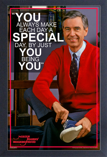 Mr.Rogers You Being You Framed Print