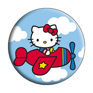 Hello Kitty - Airplane Button - Disc