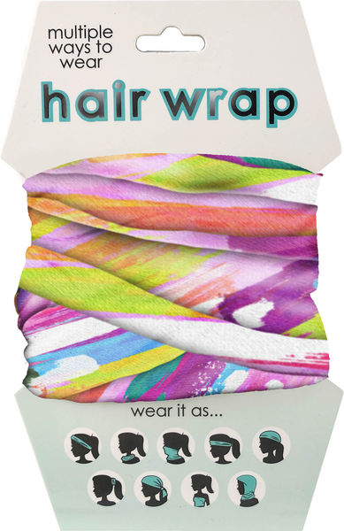 Colourful Splatter Hair Wrap