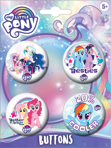 My Little Pony 4pk Buttons