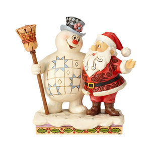 "Frosty & Santa - ""At Home in the North Pole"" Jim Shore"