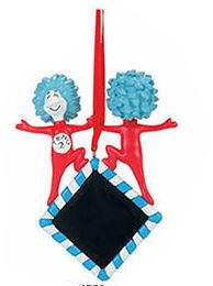 Dr. Seuss - Thing 1 & Thing 2 Personalizable Ornament