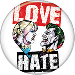 Harley Quinn & Joker - Love Hate Button