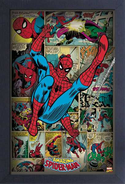 Spider-Man - Comic Panels 11x17 Framed Print