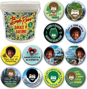 Bob Ross Assorted Buttons