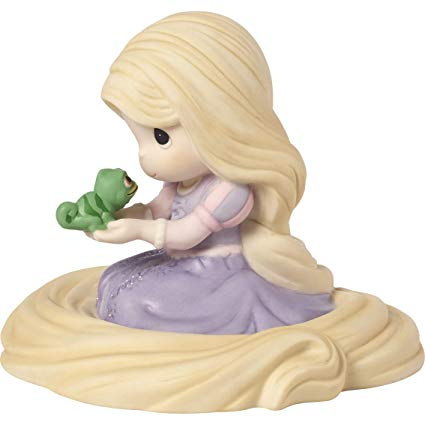 Tangled - Rapunzel Holding Pascal Precious Moments