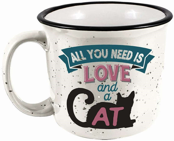 All You Need is Love & A Cat Camper Mug