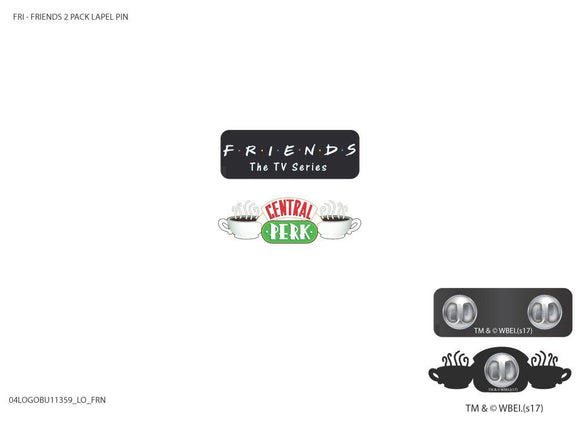 Friends Logos 2pk Pins