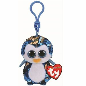 TY Flippables - Payton the Penguin Bag Clip