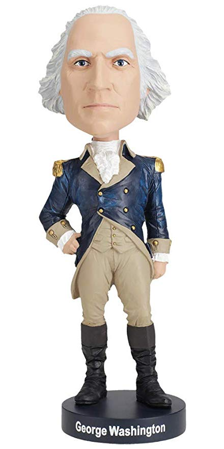 George Washington hand painted Bobblehead