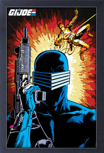 G.I. Joe - Swing Fire Explosion 11x17 Framed Print
