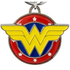 Wonder Woman Coloured Pewter Keychain