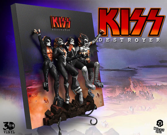 KISS 'Destroyer' 3D Vinyl Album Cover - Limited Edition in Resin