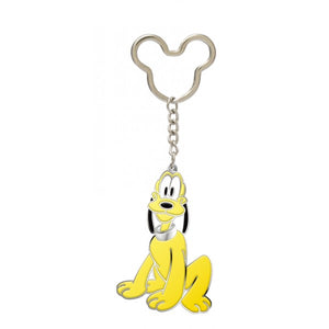 Pluto Coloured Pewter Keychain