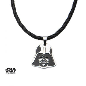 Star Wars - Darth Vader Black Leather Necklace