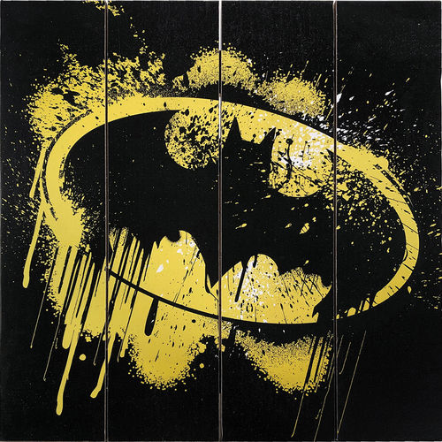 Batman Grafitti Logo Wood Sign
