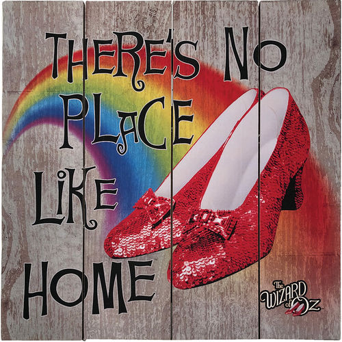 Wizard Of Oz No Place Like Home Wood Sign