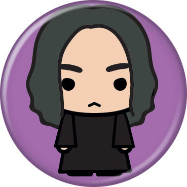 Harry Potter - Chibi Snape On Purple Button