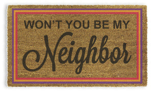 Mr.Rogers - Won't You Be My Neighbor Doormat