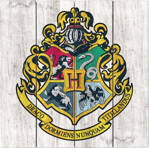 Harry Potter - Hogwarts Crest Wood Sign