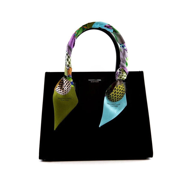 Maximiliana Silk Bag Tie - Green Blue