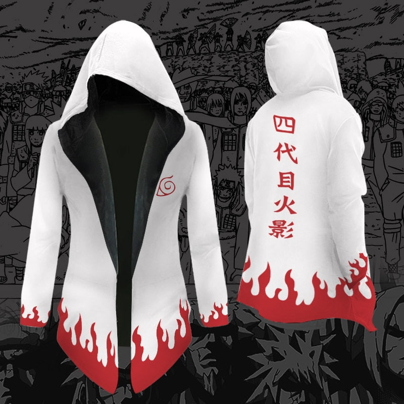 Thick and Soft Hokage Hooded Cardigan