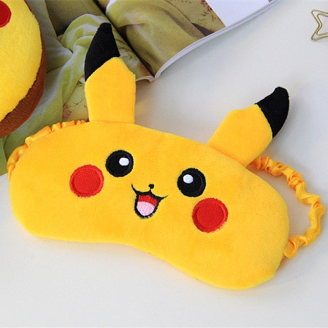 Cute Pikachu Mule Slippers and/or Eye Mask Set