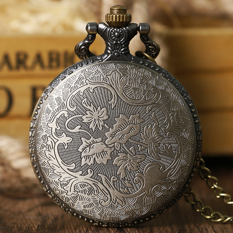 Fairy Tail Anime Pocket Watch closed rear view