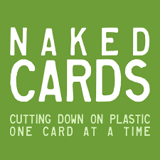 Green and white Naked Cards logo