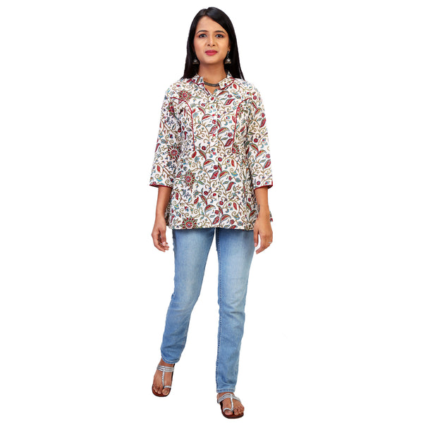 Summertime Print Kalamkari  Top