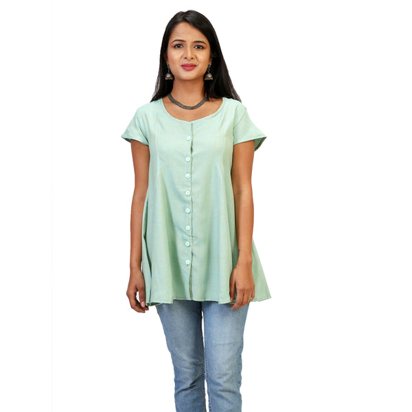 Emerald Green Relaxed Fit Top