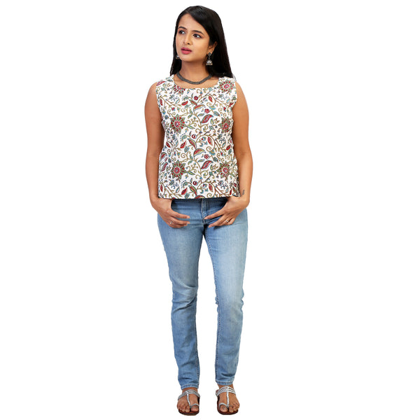 sleeveless cotton top online for women