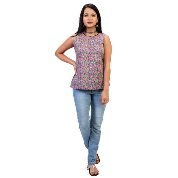 short casual top with different back for women