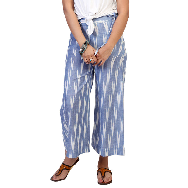 ikar print palazzos in cotton for women