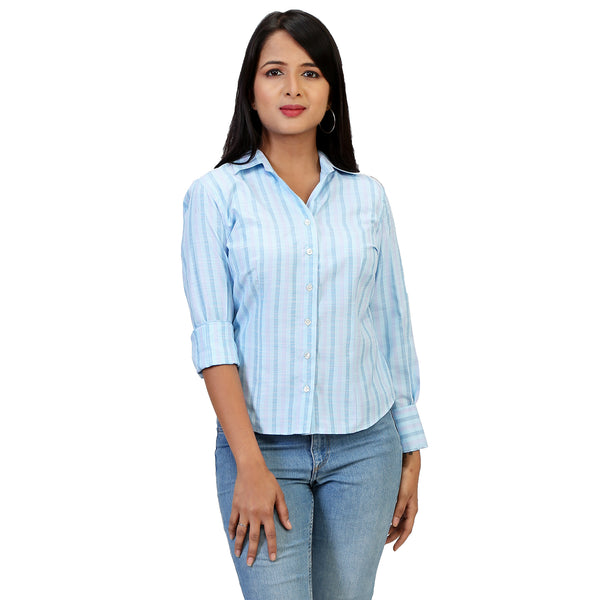 blue-striped-formal-shit-for-women