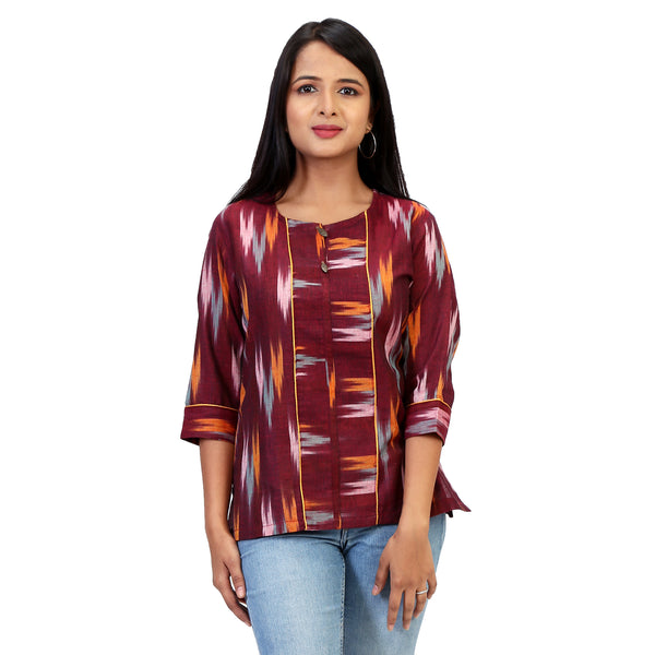 ikat tops online for women