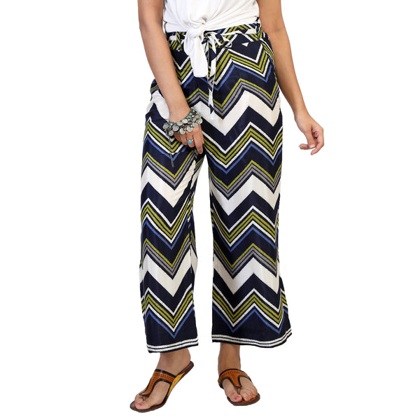 multicoloured palazzo pants for women online