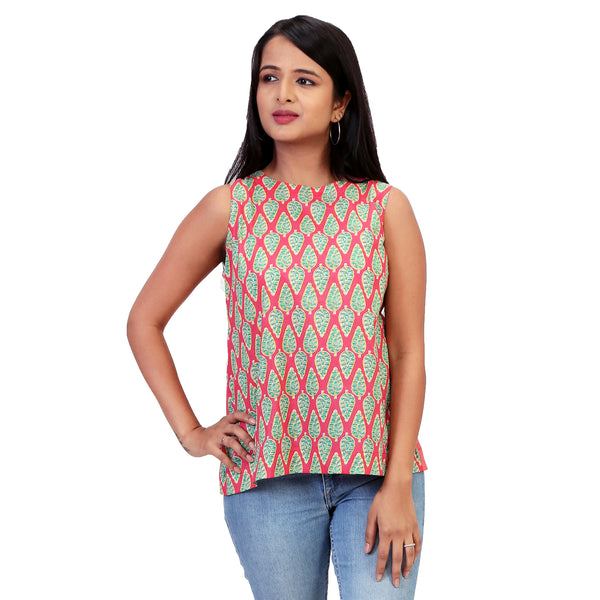 Casual-cotton-top-for-ladies-in-indian-print