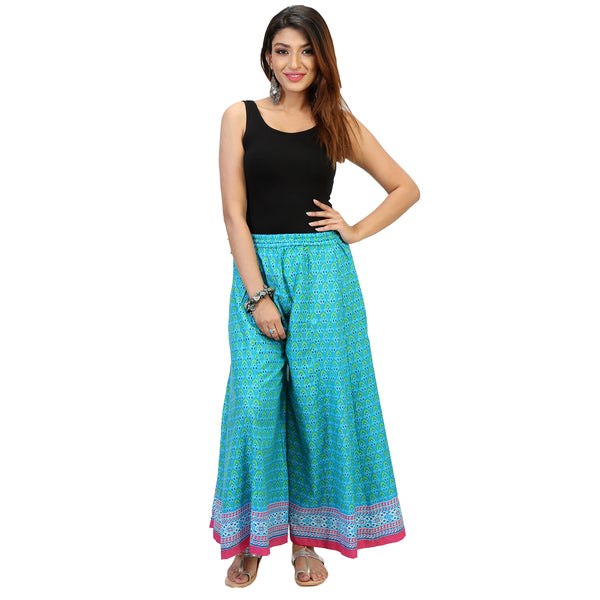 panelled palazzo pants online for women