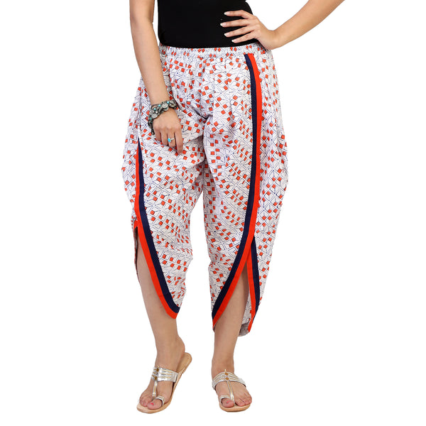 tulip pants online for women-in-pure-cotton