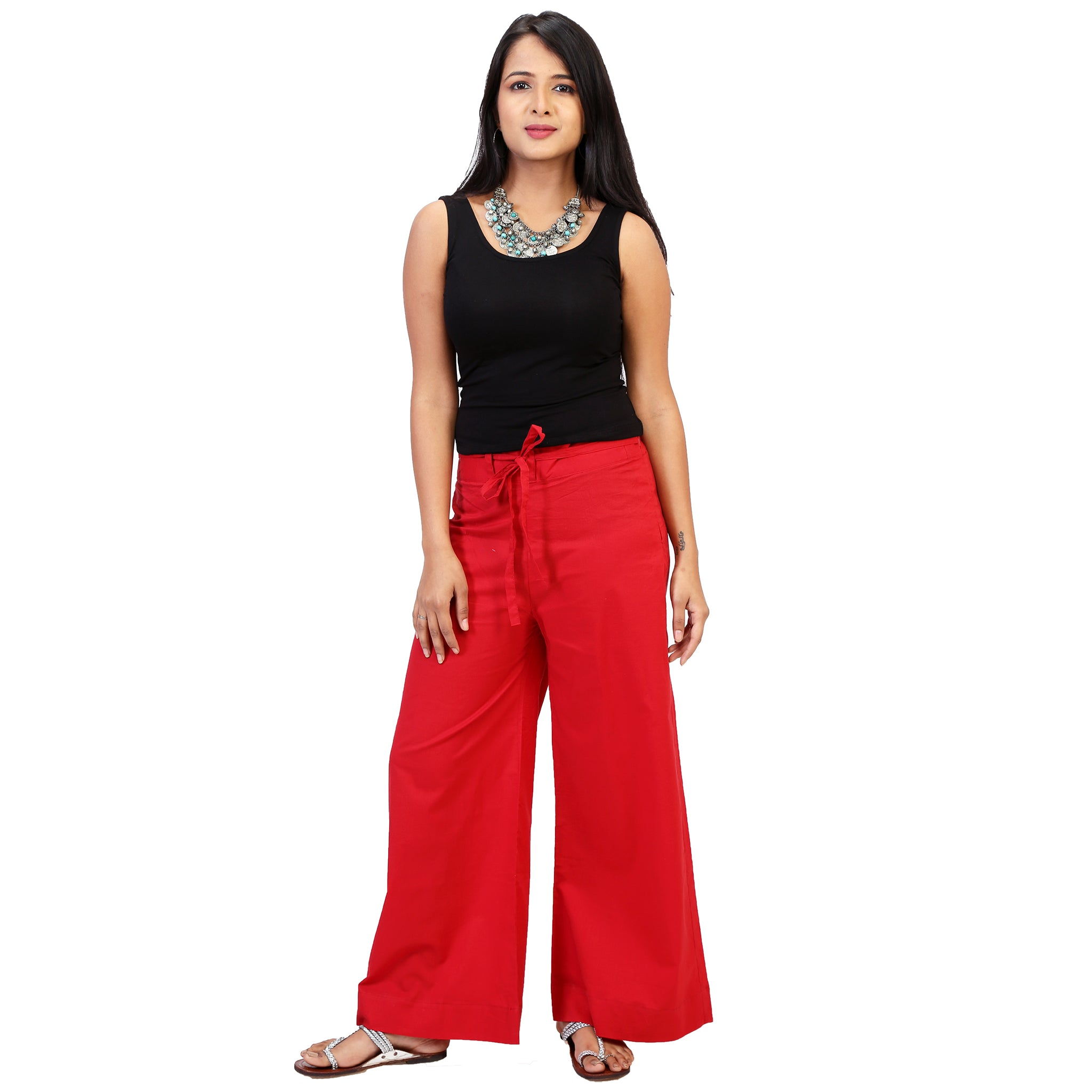 red palazzo online for women