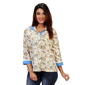 floral formal shirt for women online