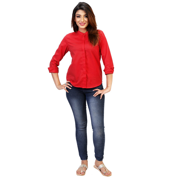 red-office-shirt-for-women