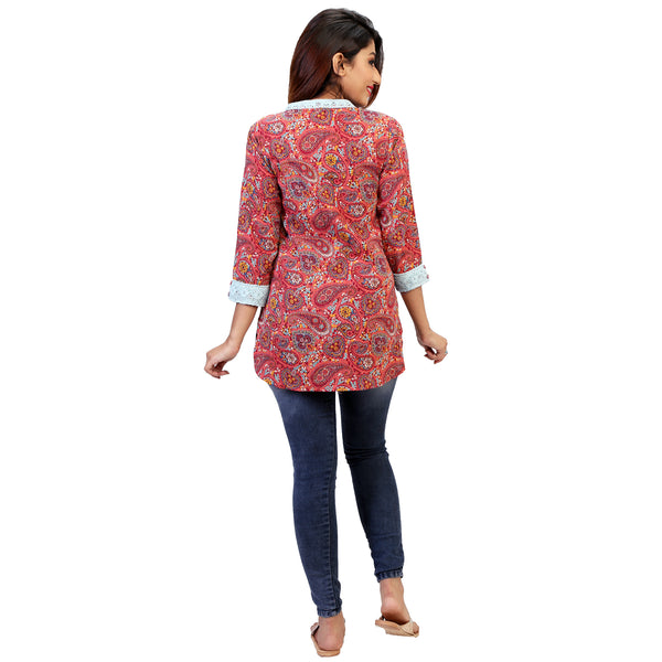 Paisley Love Kurta With Lace Detail