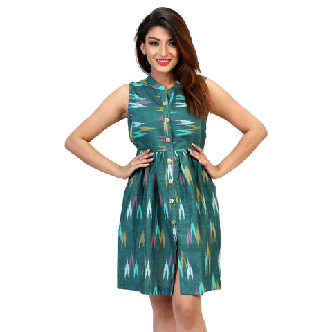 Ikat-print-dress-for-women-online-india