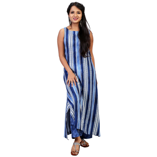 blue-and-white-kurta-dress-online-india