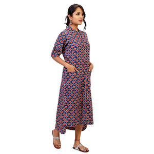 floral kurta dress with pockets online for women