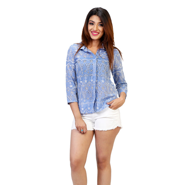 elegant embroidered women's shirts online