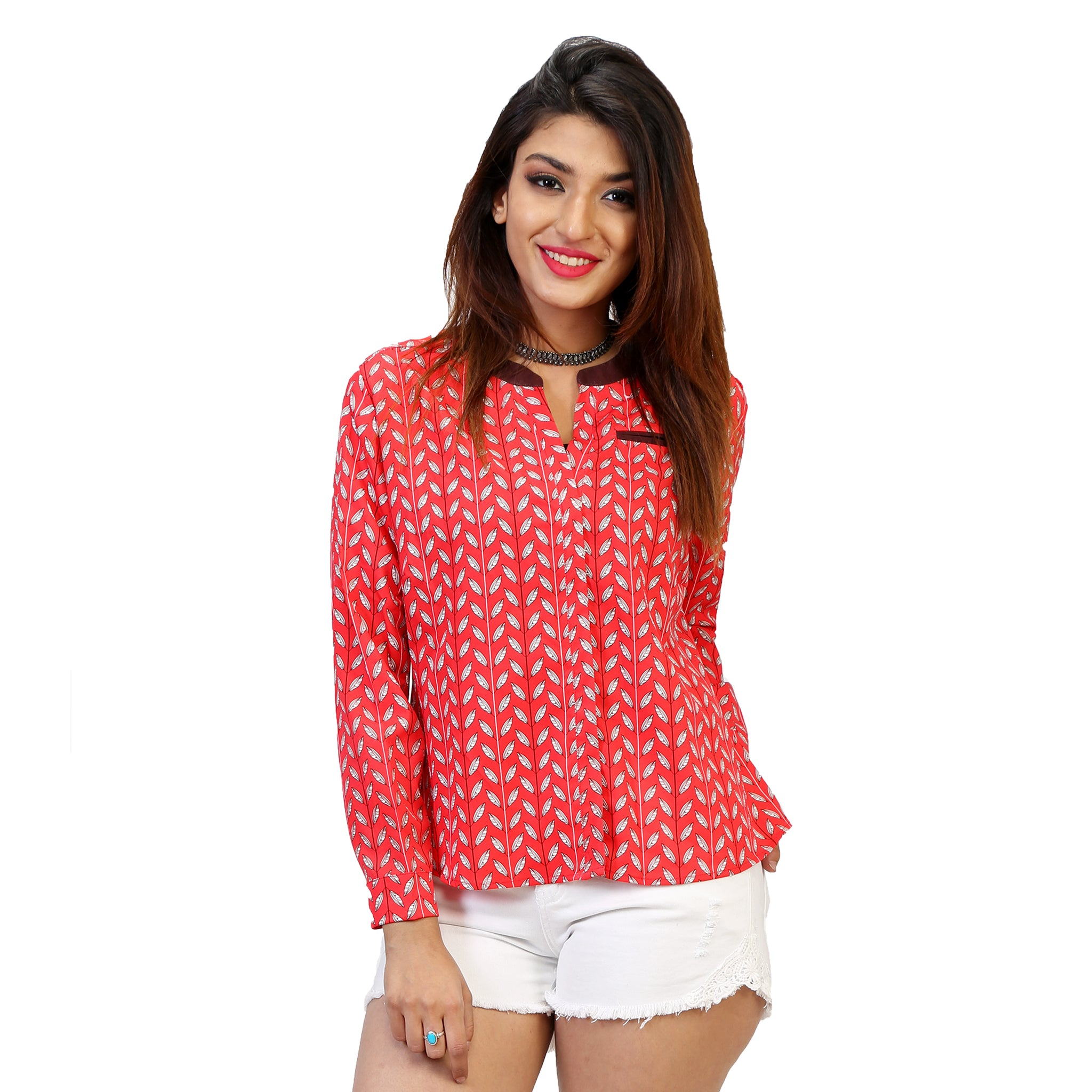 red-office-shirt-for-ladies