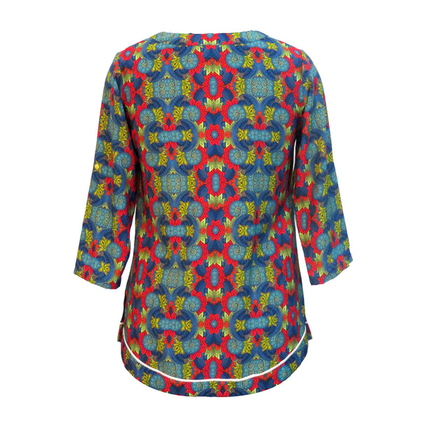 Psychedelic Themed Kurta Top